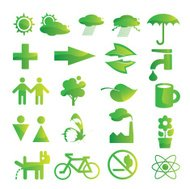 ecological and environmental protection icon set