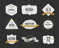 hand drawn, inked hipster vintage retro labels and logo