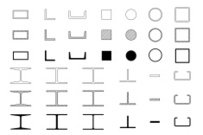 Vector of steel icons