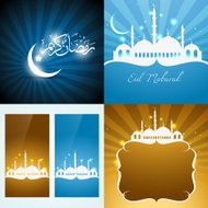 vector collection of attractive background of eid festival