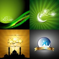 vector collection of eid festival background illustration