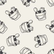 sand toy doodle seamless pattern background