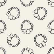 necklace doodle seamless pattern background