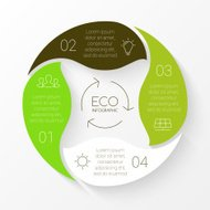 Vector linear circle eco infographic. Ecology template for diagram, graph