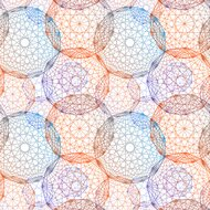 Concentric colored circles, seamles pattern