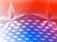 American Star and Stars Background