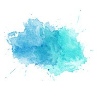 Aquarela azul splatters. Vector