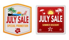 July sale stickers