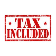 Tax Included-stamp