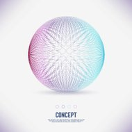 Abstract concept geometric area circle of lines