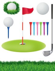 Set of Golf Elements