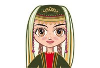 The girl in the Armenian national clothes