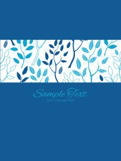 Vector blue forest stripe frame vertical card invitation template
