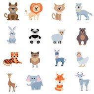 Wild And Home Animals Set