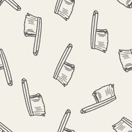 clean brush doodle seamless pattern background