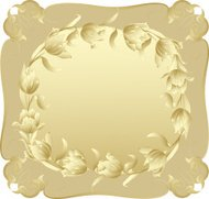Vector frame in vintage style with flowers.