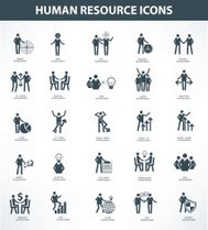 Human resource icon set,clean vector