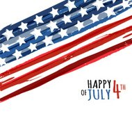 Happy 4th of July, USA Independence Day. Vector abstract background.
