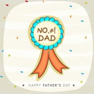 Stylish badge for Happy Father's Day celebration.