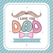 Greeting card with stylish text for Happy Father's Day.