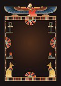 Egyptian Background and Design Elements