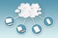 Cloud Computing with Desktop Computer, Smartphone, Tablet and Smartphone