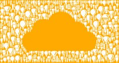 Cloud on Vector Lightbulb Pattern Background