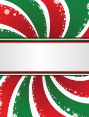 Christmas Snowflakes Swirl Banner Background