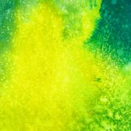 Bright hand painted background with yellow and green