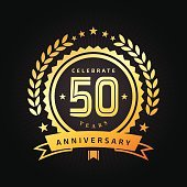 Fifty years Anniversary emblem