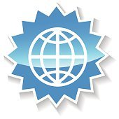 World blue icon