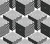 Contrast black and white symmetric seamless pattern