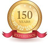 Hundred Fifty Years Experience Banner