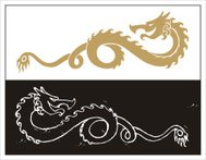 Dragon Symbol Gold & Black