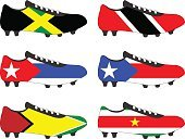Football Cleats with National Flags of the Americas 4