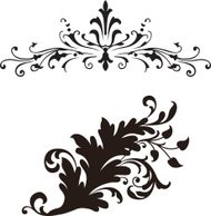 Floral scroll designs