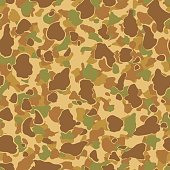 Vintage Style Camouflage Pattern - Seamless Tile