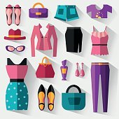Set of women's clothing and accessories