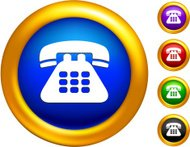 contact us internet icon on button