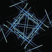 Abstract isometric computer generated 3D blueprint visualization lines background