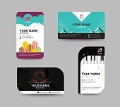 Business card template, business card layout design,