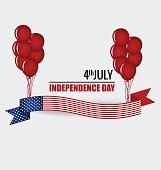 Happy independence day card United States of America.