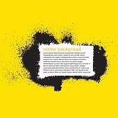 Grunge Splatter Paint Background With Place For Text