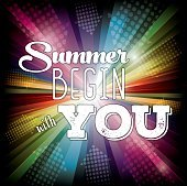 Summer Begin with You. Typographic Symbol.