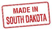 made in South Dakota red square isolated stamp
