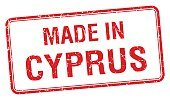 made in Cyprus red square isolated stamp