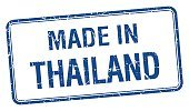 made in Thailand blue square isolated stamp