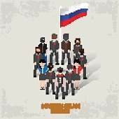 Russia team,character,business concept,vector