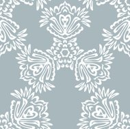 Seamless background made of exotic pattern in grey  color