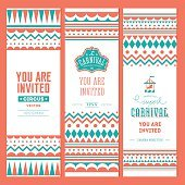 Carnival banner collection. Vector illustration